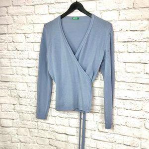 United Colours of Benetton Blue Sweater Medium